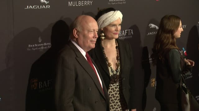 julian fellowes and emma fellowes at the 2015 bafta los angeles tea party at the four seasons hotel on january 10, 2015 in beverly hills, california. - julian fellowes stock videos & royalty-free footage