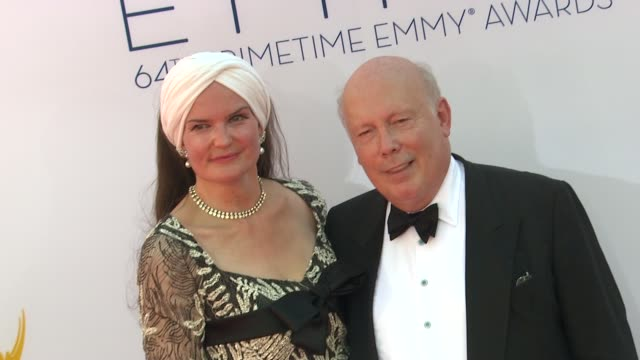 julian fellowes at 64th primetime emmy awards - arrivals on 9/23/12 in los angeles, ca. - julian fellowes stock videos & royalty-free footage