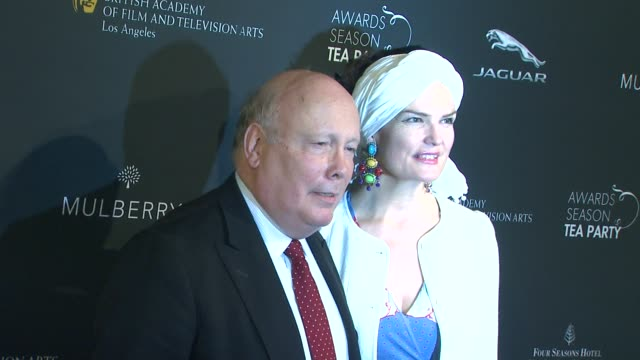 julian fellowes at bafta 2014 awards season tea party at four seasons hotel los angeles at beverly hills on in beverly hills, california. - julian fellowes stock videos & royalty-free footage