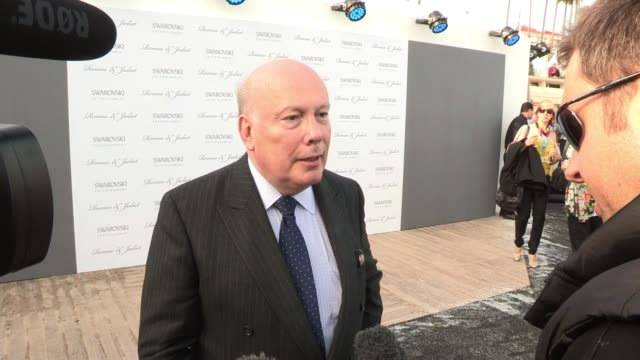 julian fellowes at romeo and juliet swarovski entertainment party. julian fellowes at majestic beach on may 19, 2012 in cannes, france - julian fellowes stock videos & royalty-free footage
