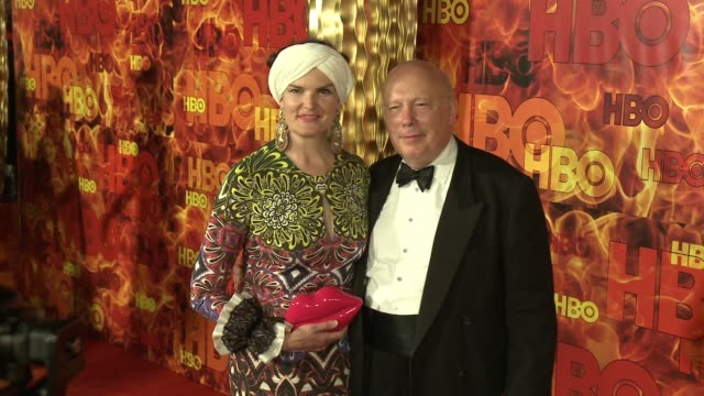 julian fellowes at the 2015 hbo emmy after party at the plaza at the pacific design center on september 20, 2015 in los angeles, california. - julian fellowes stock videos & royalty-free footage
