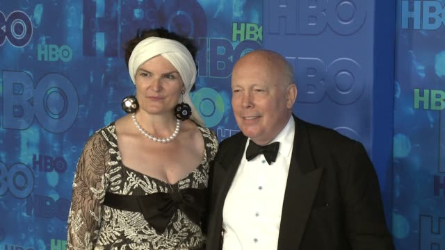 julian fellowes at the hbo's post emmy awards reception - arrivals at the plaza at the pacific design center on september 18, 2016 in los angeles,... - julian fellowes stock videos & royalty-free footage