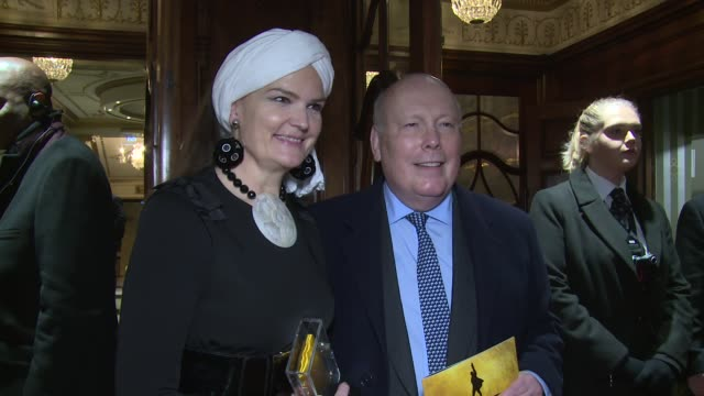 julian fellowes at victoria palace theatre on december 21, 2017 in london, england. - julian fellowes stock videos & royalty-free footage