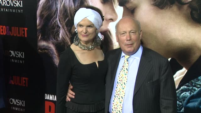 julian fellowes, emma joy kitchener at romeo & juliet los angeles premiere on 9/24/2013 in hollywood, ca. - julian fellowes stock videos & royalty-free footage