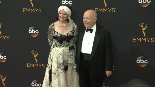 julian fellowes, emma joy kitchener-fellowes at 68th annual primetime emmy awards - arrivals in los angeles, ca 9/18/16 - julian fellowes stock videos & royalty-free footage