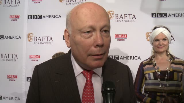 vidéos et rushes de julian fellowes on supporting bafta and all they've done for 'downton abbey' over the years, on the tea party and what he loves about the event, on... - nominations aux emmy awards