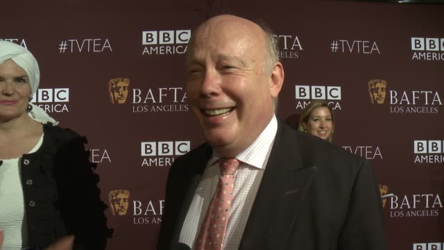 julian fellowes on the importance of being at tonight's bafta event, and on their favorite television moments from this past season at the 2015 bafta... - julian fellowes stock videos & royalty-free footage