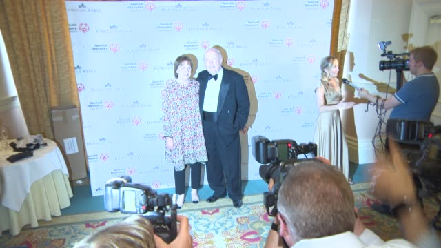 julian fellowes, penelope wilton at 'downton abbey' gala dinner at the landmark hotel on june 24, 2015 in london, england. - julian fellowes stock videos & royalty-free footage