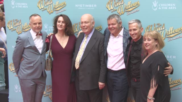 Julian Fellowes Rachel Kavanagh Peter McKintosh Anthony Drewe George Stiles Aletta Collins at The Wind in the Willows press night / VIP gala at...