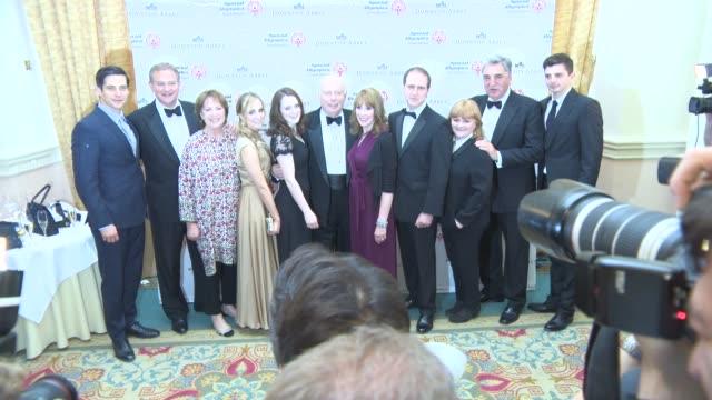 Julian Fellowes Sophie McShera Penelope Wilton Joanne Froggatt Hugh Bonneville at 'Downton Abbey' gala dinner at The Landmark Hotel on June 24 2015...