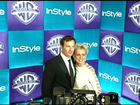 julian mcmahon and mother lady sonia mcmahon at the in style magazine and warner brothers studios 6th annual golden globe party at the beverly hilton... - warner bros stock videos & royalty-free footage