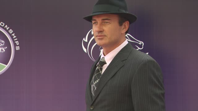 julian mcmahon at the breeders' cup world thoroughbred championships at arcadia ca. - championships stock videos & royalty-free footage