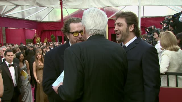 Julian Schnabel and Javier Bardem at the 2008 Academy Awards at the Kodak Theatre in Hollywood California on February 24 2008