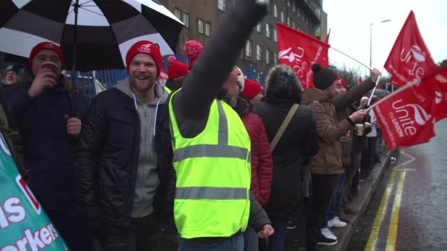 julian smith holds crisis talks after nurses strike northern various shots of nurses on strike outside hospitals - ireland stock videos & royalty-free footage