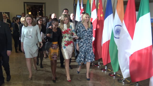 juliana rotich director brck speaks with queen maxima of the netherlands and ivanka trump advisor and daughter of us president donald trump as they... - prinzessin stock-videos und b-roll-filmmaterial