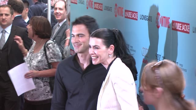 julianna margulies and guest at the world premiere of showtime's 'nurse jackie' at new york ny - nurse jackie video stock e b–roll
