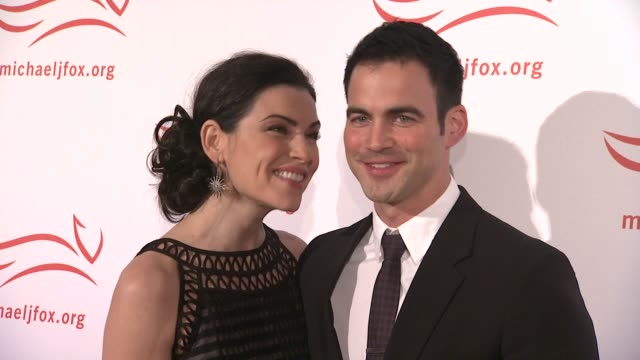julianna margulies and keith lieberthal at the 2011 a funny thing happened on the way to cure parkinson's red carpet at new york ny - julianna margulies stock videos and b-roll footage