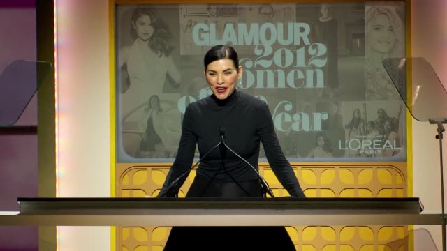 Julianna Margulies announces honoree Erin Merryn at Glamour Magazine's 22nd Annual Women Of The Year Awards at Carnegie Hall on November 12 2012 in...