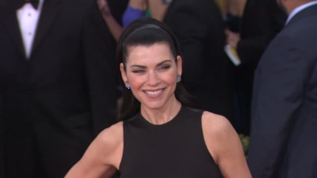 julianna margulies at 19th annual screen actors guild awards arrivals 1/27/2013 in los angeles ca julianna margulies at 19th annual screen actors gu... - julianna margulies stock videos and b-roll footage