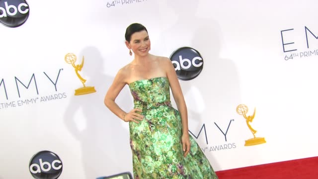 julianna margulies at 64th primetime emmy awards arrivals on 9/23/12 in los angeles ca - julianna margulies stock videos and b-roll footage