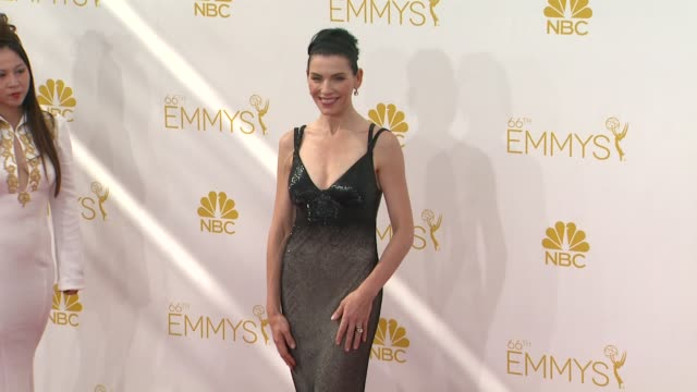 julianna margulies at 66th primetime emmy awards arrivals in los angeles ca - julianna margulies stock videos and b-roll footage