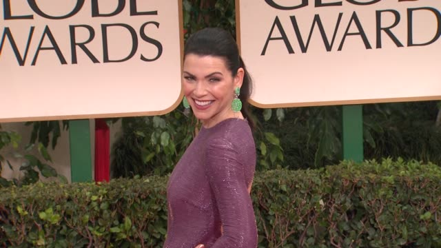 julianna margulies at 69th annual golden globe awards arrivals on january 15 2012 in beverly hills california - julianna margulies stock videos and b-roll footage