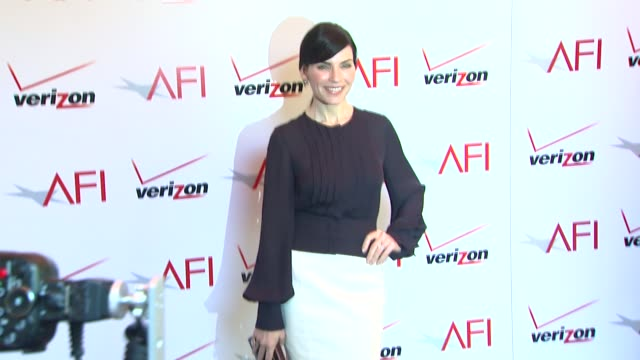 julianna margulies at the 14th annual afi awards at the four seasons hotel los angeles at beverly hills 01/10/14 - julianna margulies stock videos and b-roll footage