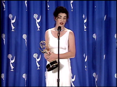 julianna margulies at the 1995 emmy awards press room at the pasadena civic auditorium in pasadena california on september 10 1995 - julianna margulies stock videos and b-roll footage