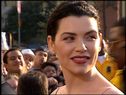 julianna margulies at the 1998 screen actors guild sag awards at the shrine auditorium in los angeles california on march 8 1998 - julianna margulies stock videos and b-roll footage