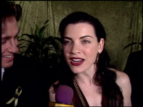 julianna margulies at the 2000 hbo emmy party at spago in beverly hills california on september 10 2000 - julianna margulies stock videos and b-roll footage