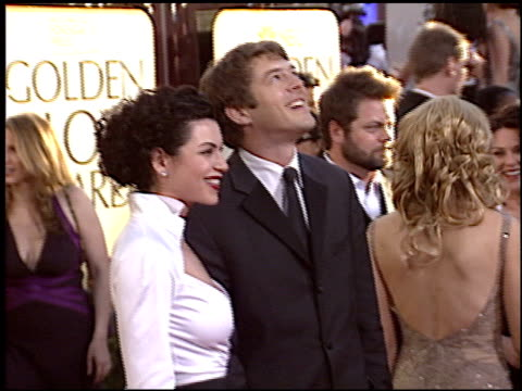 julianna margulies at the 2005 golden globe awards at the beverly hilton in beverly hills california on january 16 2005 - julianna margulies stock videos and b-roll footage