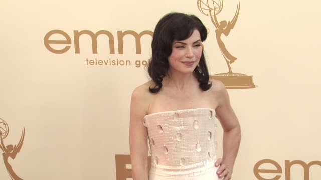 julianna margulies at the 63rd primetime emmy awards arrivals part 1 at los angeles ca - julianna margulies stock videos and b-roll footage