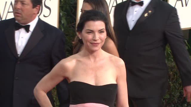 julianna margulies at the 68th annual golden globe awards arrivals part 2 at beverly hills ca - julianna margulies stock videos and b-roll footage