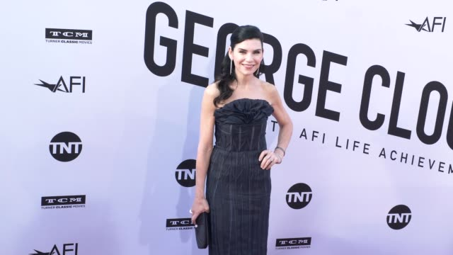 vídeos de stock, filmes e b-roll de julianna margulies at the american film institute honors george clooney with 46th afi life achievement award at dolby theatre on june 07 2018 in... - american film institute