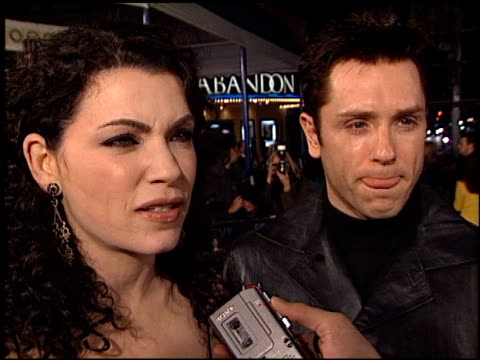julianna margulies at the 'ghost ship' premiere at the mann village theatre in westwood california on october 22 2002 - julianna margulies stock videos and b-roll footage