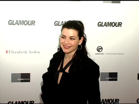 julianna margulies at the glamour magazine 'reel moments' short film series world premiere at us union square stadium 14 in new york new york on... - julianna margulies stock videos and b-roll footage