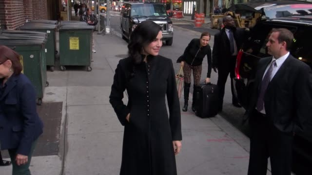 julianna margulies at the 'late show with david letterman' studio julianna margulies at the 'late show with david le on november 13 2012 in new york... - julianna margulies stock videos and b-roll footage
