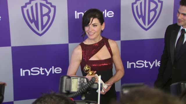 vídeos y material grabado en eventos de stock de julianna margulies at the warner bros and instyle golden globe afterparty at beverly hills ca - warner bros