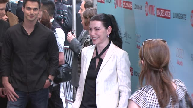 julianna margulies at the world premiere of showtime's 'nurse jackie' at new york ny - nurse jackie video stock e b–roll