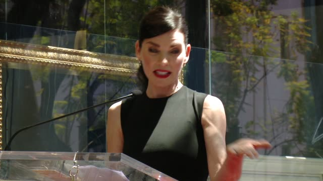 julianna margulies honored with star on the hollywood walk of fame at hollywood walk of fame on may 01, 2015 in hollywood, california. - walk of fame stock videos & royalty-free footage
