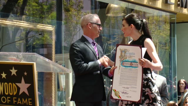 julianna margulies is honored with star on the hollywood walk of fame at hollywood walk of fame on may 01, 2015 in hollywood, california. - walk of fame stock videos & royalty-free footage