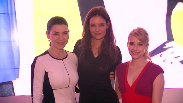 julianna margulies, katie holmes and emma roberts at kohl's celebrates the launch of narciso rodriguez for designation with exclusive collection... - exklusiv stock-videos und b-roll-filmmaterial