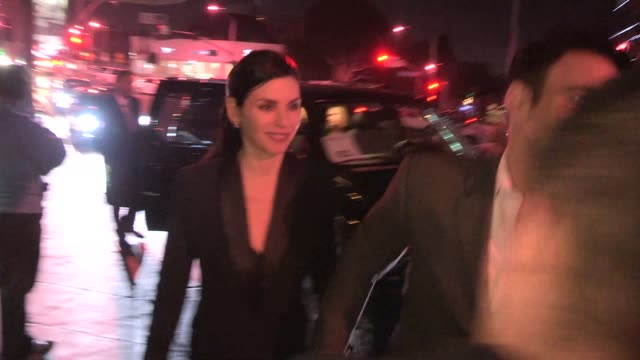 julianna margulies keith lieberthal greet a fan at the 2014 hbo party rivabella celebrity sightings in los angeles on in los angeles california - julianna margulies stock videos and b-roll footage