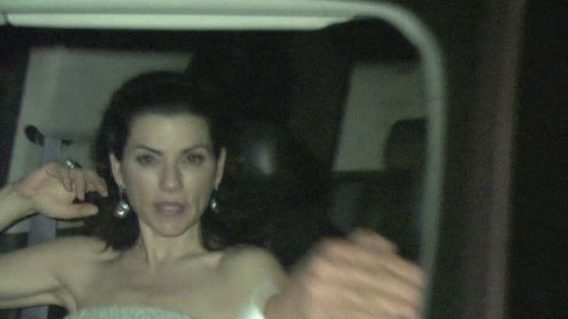 julianna margulies leaving chateau marmont in west hollywood 01/29/12 in celebrity sightings in los angeles - julianna margulies stock videos and b-roll footage