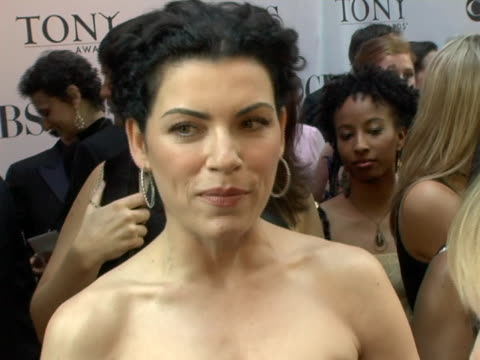 julianna margulies on presenting having fun on her birthday and her upcoming projects at the 60th annual tony awards at radio city music hall in new... - hoop earring stock videos and b-roll footage