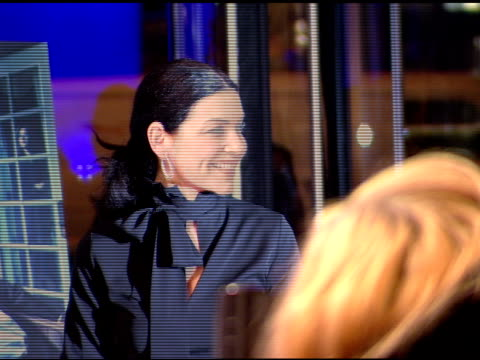 julianna margulies posing for paparazzi on red carpet heads and camera in fg - julianna margulies stock videos and b-roll footage