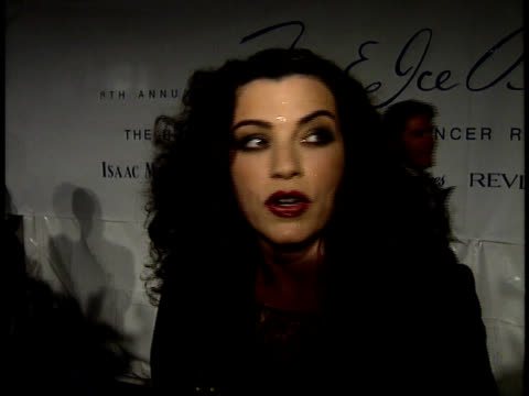 julianna margulies talks about her family's history with breast cancer - julianna margulies stock videos and b-roll footage