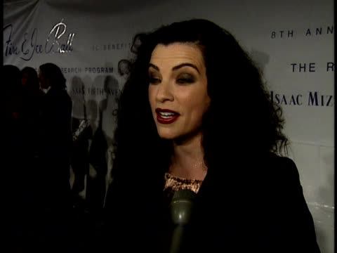 julianna margulies talks about her outfit - julianna margulies stock videos and b-roll footage
