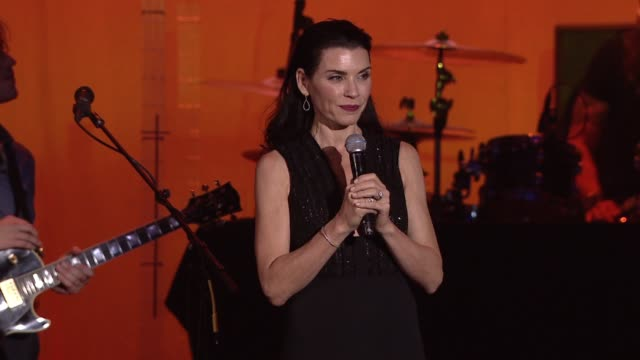 speech julianna margulies thanks michael and his wife at 2015 a funny thing happened on the way to cure parkinson's at waldorf astoria hotel on... - waldorf astoria new york stock videos & royalty-free footage
