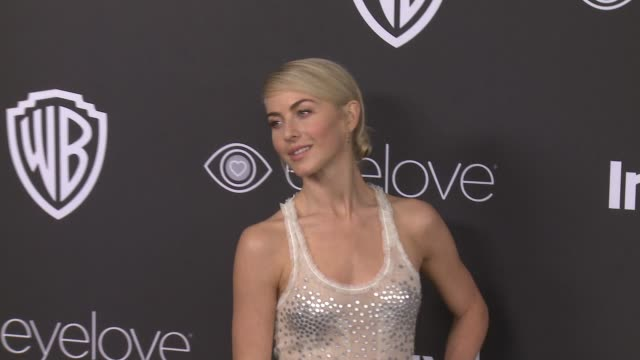 julianne hough at 18th annual instyle and warner bros pictures golden globes afterparty at the beverly hilton hotel on january 08 2017 in beverly... - ゴールデングローブ賞点の映像素材/bロール